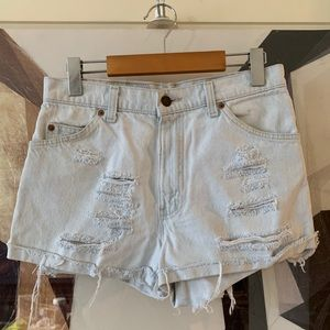 Vintage Levi's orange tab distressed jean shorts